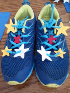 Rainbow Brite Running Shoes