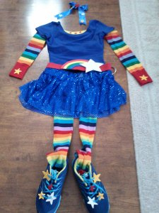 Rainbow Brite Running Costume